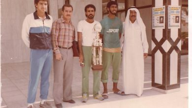 صورة من البوم لاعب العاب القوى عباس درويش