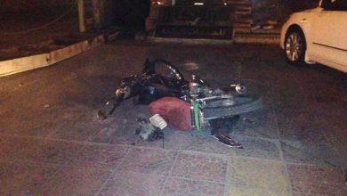 صورة وفاة الحاج مديفع في حادث دراجة نارية على طريق أحد بالقطيف