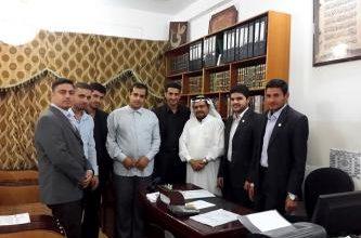 صورة وفدٌ من المجلس القرآني المشترك في القطيف يزور العتبة العلوية المقدسة