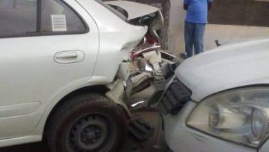صورة سيهات : حادث اصطدام بين ثلاث سيارات في حي النمر (بالصور)