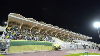 صورة مدرج الدانه … يتحدث .. التغطية المصورة الأخيرة لمباراة الخليج والقادسية
