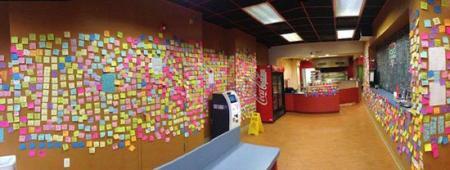 Photo of علاقة محل البيتزا الأمريكي بأوراق الملاحظات الملونة !