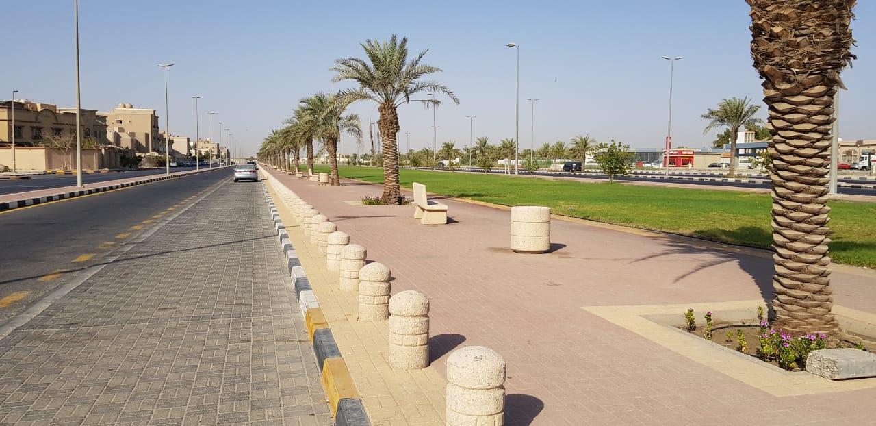 صورة سيهات : ممشى حي الخليج يعود به الشباب للصخب