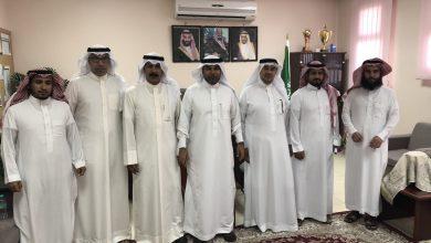 صورة تبادل الزيارات بين المرشدين الطلابيين بمدرسة سعد بن الحارث