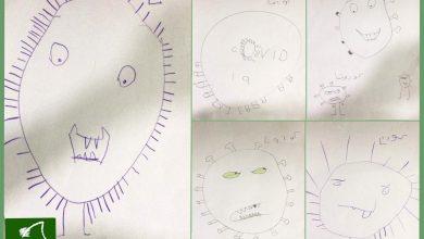 صورة من الأقوى أنا أو كرونا ؟ .. تحدّيات رسم بين الأطفال تكشف شخصياتهم في محاربة كورونا