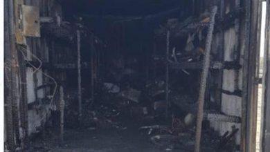 """صورة الدفاع المدني يسيطر على حريق بـ""""مستودع القارة"""""""