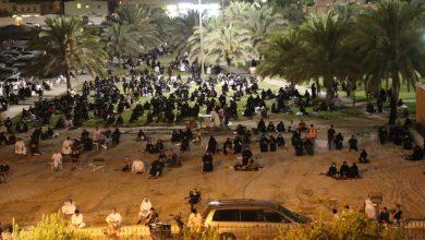 صورة بالصور : مسجد الحمزة بسيهات يحيي ليلة التاسع من محرم 1442هـ