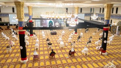صورة سيهات : مسجد الحمزة يحيي الليلة الثامنة من محرم 1442هـ (بالصور)