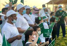 صورة احتفالًا باليوم الوطني.. مجموعة «مشاة سيهات» وبمشاركة الاهالي تمشي على كورنيش الغدير