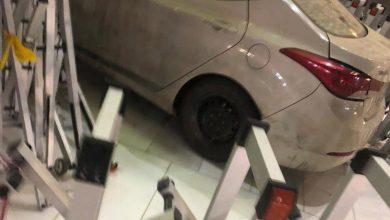 صورة مكة.. الجهات الأمنية تباشر حادثة ارتطام سيارة في أحد أبواب الحرم