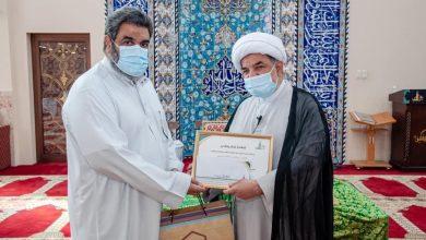 صورة سيهات: تكريم القيّوم السابق لجامع أم البنين الحاج عباس السبع