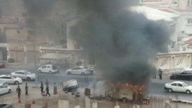 صورة فودتراك يحترق في الناصرة
