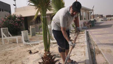 """صورة """"مقبرة الأطفال"""" تجذب اهتمام """"محمود شاخور"""" ويعتبرها مبادرته الاجتماعية"""