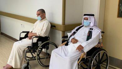 صورة فريق مشاة سيهات يشارك فرحة القرقيعان مع نزلاء المجمع الصحي