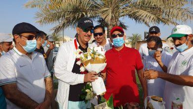 صورة فريق مشاة سيهات يحتفل بعودة المصور الدبيس
