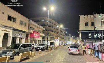 صورة بالصور …. تحديثات في إضاءة «سوق مياس»
