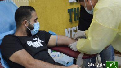 صورة 70 متبرعاً بالدم في حملة «نقطة تساوي حياة»